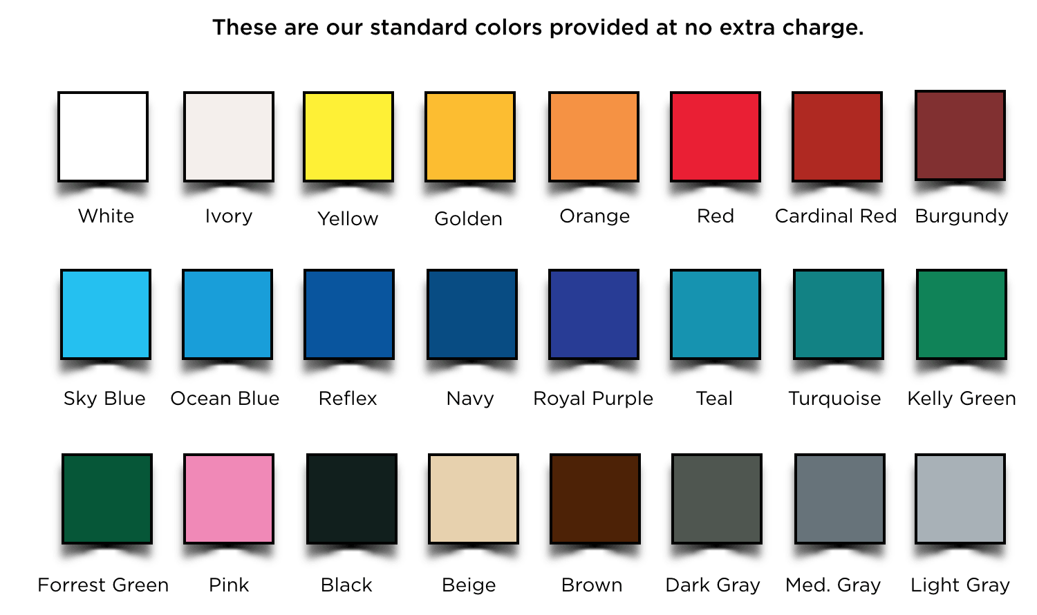 Color chart custom lobby signs lobbysigns need a more specific color no problem we can match any pms color nvjuhfo Images