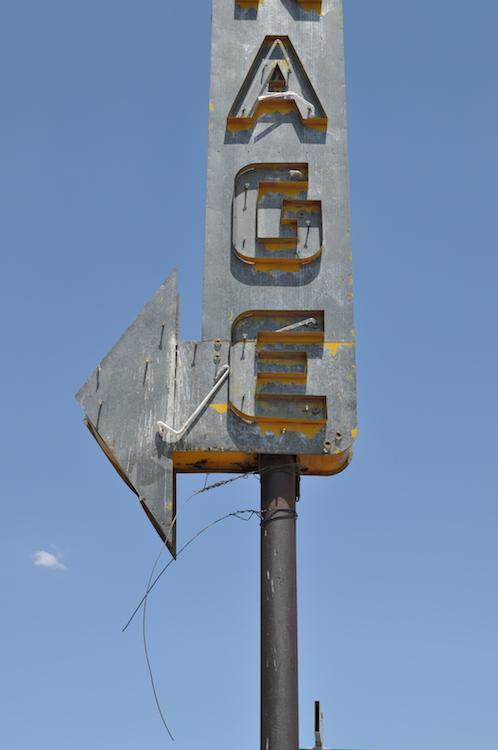 Vintage signs are plentiful