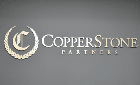"""Individually cut dimensional letters and logo from 1/2"""" thick black PVC with a brushed aluminum laminate to face. Brushed aluminum is very clean and corporate and alleviates the need for multiple color versions in client logos."""